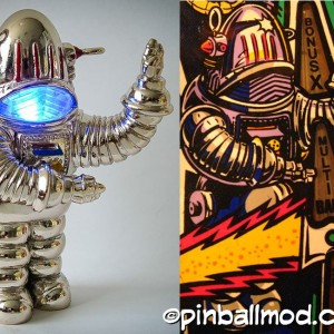 Robby the Robot Pat Lawlor Twilight Zone pinball mod